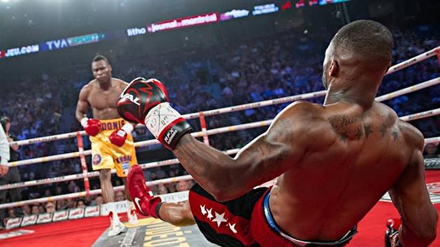 le nouveau champion du monde WBC des mi-lourds, Adonis Stevenson. K-O Chad Dawson 76 secondes exactement en première round !